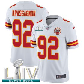 Wholesale Cheap Nike Chiefs #92 Tanoh Kpassagnon White Super Bowl LIV 2020 Youth Stitched NFL Vapor Untouchable Limited Jersey