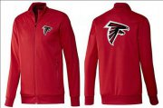 Wholesale Cheap NFL Atlanta Falcons Team Logo Jacket Red_1