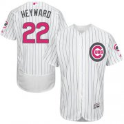 Wholesale Cheap Cubs #22 Jason Heyward White(Blue Strip) Flexbase Authentic Collection Mother's Day Stitched MLB Jersey