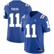 Wholesale Cheap Florida Gators 11 Kyle Trask Blue Throwback College Football Jersey