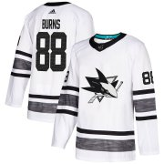 Wholesale Cheap Adidas Sharks #88 Brent Burns White Authentic 2019 All-Star Stitched Youth NHL Jersey