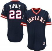 Wholesale Cheap Indians #22 Jason Kipnis Navy Blue 1976 Turn Back The Clock Stitched MLB Jersey