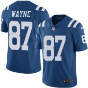 Wholesale Cheap Nike Colts #87 Reggie Wayne Royal Blue Youth Stitched NFL Limited Rush Jersey