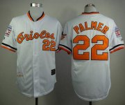 Wholesale Cheap Mitchell And Ness 1989 Orioles #22 Jim Palmer White Throwback Stitched MLB Jersey