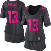 Wholesale Cheap Nike Dolphins #13 Dan Marino Dark Grey Women's Breast Cancer Awareness Stitched NFL Elite Jersey