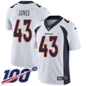 Wholesale Cheap Nike Broncos #43 Joe Jones White Men\'s Stitched NFL 100th Season Vapor Untouchable Limited Jersey