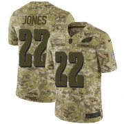 Wholesale Cheap Nike Eagles #22 Sidney Jones Camo Youth Stitched NFL Limited 2018 Salute to Service Jersey