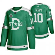 Wholesale Cheap Adidas Dallas Stars #10 Corey Perry Men's Green 2020 Stanley Cup Final Stitched Classic Retro NHL Jersey