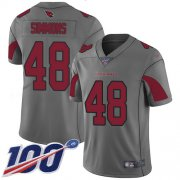 Wholesale Cheap Nike Cardinals #48 Isaiah Simmons Silver Men's Stitched NFL Limited Inverted Legend 100th Season Jersey