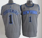 Wholesale Cheap New York Knicks #1 Amare Stoudemire Gray Static Fashion Jersey