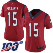 Wholesale Cheap Nike Texans #15 Will Fuller V Red Alternate Women's Stitched NFL 100th Season Vapor Limited Jersey