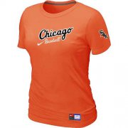 Wholesale Cheap Women's Chicago White Sox Nike Away Practice MLB T-Shirt Orange