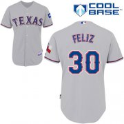 Wholesale Rangers #30 Naftali Feliz Stitched Baseball Grey Cool Base Jersey