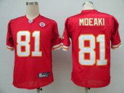 Wholesale Cheap Chiefs #81 Tony Moeaki Red Stitched NFL Jersey