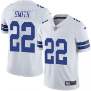 Wholesale Cheap Nike Cowboys #22 Emmitt Smith White Men's Stitched NFL Vapor Untouchable Limited Jersey