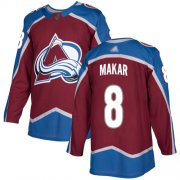 Wholesale Cheap Adidas Avalanche #8 Cale Makar Burgundy Home Authentic Stitched Youth NHL Jersey