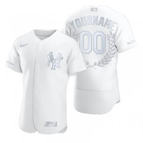 Wholesale Cheap New York Yankees Custom Men\'s Nike Platinum MLB MVP Limited Player Edition Jersey
