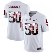 Wholesale Cheap Washington State Cougars 90 Daniel Ekuale White Fashion College Football Jersey