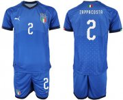 Wholesale Cheap Italy #2 Zappacosta Home Soccer Country Jersey