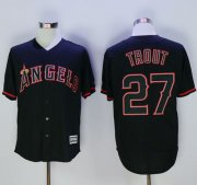 Wholesale Cheap Angels of Anaheim #27 Mike Trout Black New Cool Base Fashion Stitched MLB Jersey