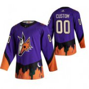 Wholesale Cheap Arizona Coyotes Custom Purple Men's Adidas 2020-21 Alternate Authentic Player NHL Jersey