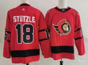 Wholesale Cheap Men's Ottawa Senators #18 Tim Stutzle Red 2021 Retro Stitched NHL Jersey