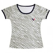 Wholesale Cheap Women's Nike Houston Texans Chest Embroidered Logo Zebra Stripes T-Shirt