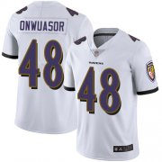 Wholesale Cheap Nike Ravens #48 Patrick Onwuasor White Men's Stitched NFL Vapor Untouchable Limited Jersey