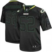 Wholesale Cheap Nike Packers #52 Clay Matthews Lights Out Black Youth Stitched NFL Elite Jersey