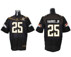 Wholesale Cheap Nike Broncos #25 Chris Harris Jr Black 2016 Pro Bowl Men\'s Stitched NFL Elite Jersey