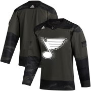 Wholesale Cheap St. Louis Blues Adidas 2019 Veterans Day Authentic Practice NHL Jersey Camo