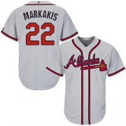 Wholesale Cheap Braves #22 Nick Markakis Grey Cool Base Stitched Youth MLB Jersey