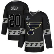 Wholesale Cheap Adidas Blues #20 Alexander Steen Black Authentic Team Logo Fashion Stanley Cup Champions Stitched NHL Jersey