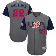 Wholesale Cheap Team USA #22 Andrew McCutchen Gray 2017 World MLB Classic Authentic Stitched MLB Jersey