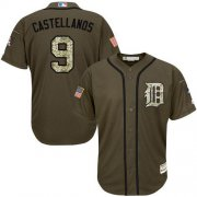 Wholesale Cheap Tigers #9 Nick Castellanos Green Salute to Service Stitched Youth MLB Jersey