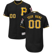 Wholesale Cheap Pittsburgh Pirates Majestic Alternate Flex Base Authentic Collection Custom Jersey Black