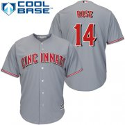 Wholesale Cheap Reds #14 Pete Rose Grey Cool Base Stitched Youth MLB Jersey