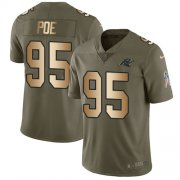 Wholesale Cheap Nike Panthers #95 Dontari Poe Olive/Gold Youth Stitched NFL Limited 2017 Salute to Service Jersey