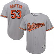Wholesale Cheap Orioles #53 Zach Britton Grey Cool Base Stitched Youth MLB Jersey