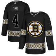 Wholesale Cheap Adidas Bruins #4 Bobby Orr Black Authentic Team Logo Fashion Stitched NHL Jersey