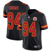 Wholesale Cheap Nike Chiefs #94 Terrell Suggs Black Youth Stitched NFL Limited Rush Jersey