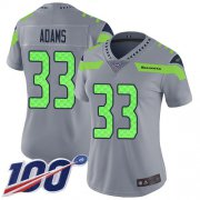 Wholesale Cheap Nike Seahawks #33 Jamal Adams Gray Women's Stitched NFL Limited Inverted Legend 100th Season Jersey