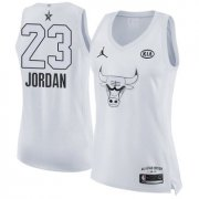 Wholesale Cheap Nike Chicago Bulls #23 Michael Jordan White Women's NBA Jordan Swingman 2018 All-Star Game Jersey