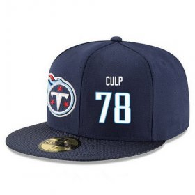 Wholesale Cheap Tennessee Titans #78 Curley Culp Snapback Cap NFL Player Navy Blue with White Number Stitched Hat