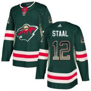 Wholesale Cheap Adidas Wild #12 Eric Staal Green Home Authentic Drift Fashion Stitched NHL Jersey