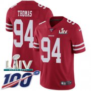 Wholesale Cheap Nike 49ers #94 Solomon Thomas Red Super Bowl LIV 2020 Team Color Youth Stitched NFL 100th Season Vapor Limited Jersey
