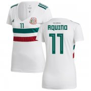 Wholesale Cheap Women's Mexico #11 Aquino Away Soccer Country Jersey