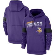 Wholesale Cheap Minnesota Vikings Nike Sideline Team Logo Performance Pullover Hoodie Purple