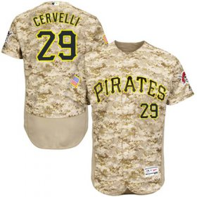 Wholesale Cheap Pirates #29 Francisco Cervelli Camo Flexbase Authentic Collection Stitched MLB Jersey