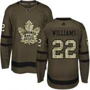 Wholesale Cheap Adidas Maple Leafs #22 Tiger Williams Green Salute to Service Stitched NHL Jersey